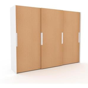 Dressing - Hêtre, design, armoire penderie pour chambre ou entrée, haut de gamme, avec portes coulissantes - 304 x 233 x 65 cm, modulable