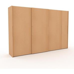 Dressing - Hêtre, design, armoire penderie pour chambre ou entrée, haut de gamme, avec portes coulissantes - 354 x 233 x 65 cm, modulable
