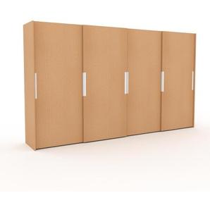 Dressing - Hêtre, design, armoire penderie pour chambre ou entrée, haut de gamme, avec portes coulissantes - 404 x 233 x 65 cm, modulable