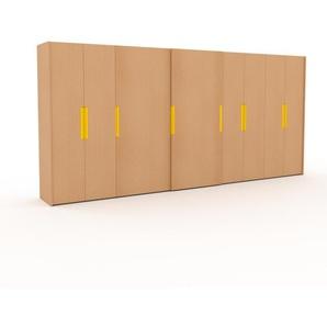 Dressing - Hêtre, design, armoire penderie pour chambre ou entrée, haut de gamme, avec portes coulissantes - 504 x 233 x 65 cm, modulable