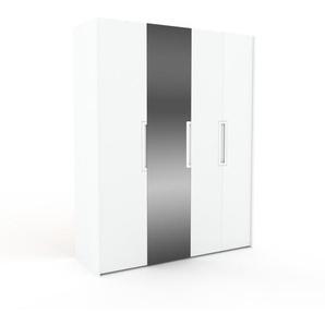 Dressing - blanc/miroir, design, armoire penderie pour chambre ou entrée, à portes battantes - 184 x 233 x 62 cm, modulable