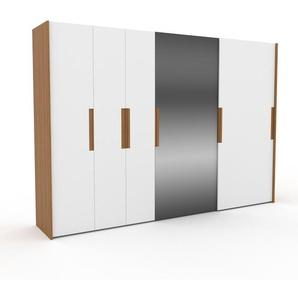 Dressing - Miroir/Blanc, design, armoire penderie pour chambre ou entrée, haut de gamme, avec portes coulissantes - 334 x 233 x 65 cm, modulable