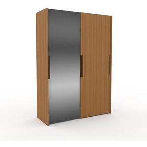 Dressing - Miroir/Chêne, design, armoire penderie pour chambre ou entrée, haut de gamme, avec portes coulissantes - 164 x 233 x 65 cm, modulable