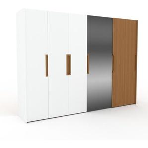 Dressing - miroir/chêne, design, armoire penderie pour chambre ou entrée, haute qualité avec portes coulissantes - 314 x 233 x 65 cm, modulable