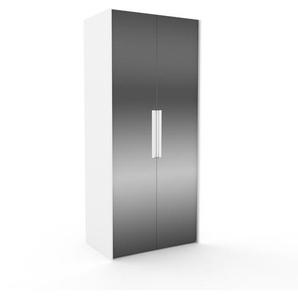 Dressing - miroir, design, armoire penderie pour chambre ou entrée, à portes battantes - 104 x 233 x 62 cm, modulable