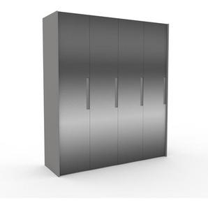Dressing - miroir, design, armoire penderie pour chambre ou entrée, à portes battantes - 204 x 233 x 62 cm, modulable