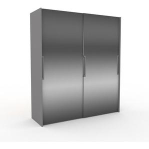 Dressing - Miroir, design, armoire penderie pour chambre ou entrée, haut de gamme, avec portes coulissantes - 204 x 233 x 65 cm, modulable