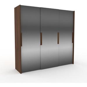 Dressing - Miroir, design, armoire penderie pour chambre ou entrée, haut de gamme, avec portes coulissantes - 244 x 233 x 65 cm, modulable