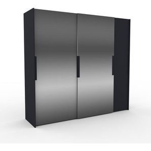 Dressing - Miroir, design, armoire penderie pour chambre ou entrée, haut de gamme, avec portes coulissantes - 254 x 233 x 65 cm, modulable