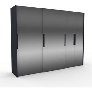 Dressing - Miroir, design, armoire penderie pour chambre ou entrée, haut de gamme, avec portes coulissantes - 304 x 233 x 65 cm, modulable