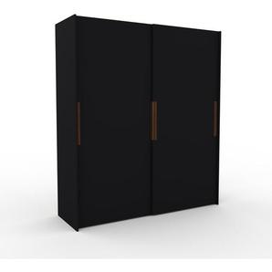 Dressing - Noir, design, armoire penderie pour chambre ou entrée, haut de gamme, avec portes coulissantes - 204 x 233 x 65 cm, modulable