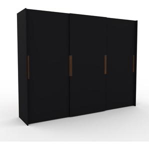 Dressing - Noir, design, armoire penderie pour chambre ou entrée, haut de gamme, avec portes coulissantes - 304 x 233 x 65 cm, modulable