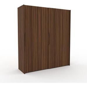 Dressing - Noyer, design, armoire penderie pour chambre ou entrée, haut de gamme, avec portes coulissantes - 204 x 233 x 65 cm, modulable
