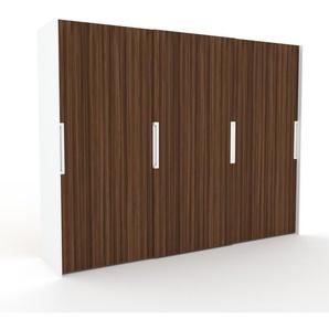 Dressing - Noyer, design, armoire penderie pour chambre ou entrée, haut de gamme, avec portes coulissantes - 304 x 233 x 65 cm, modulable