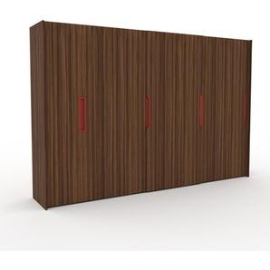 Dressing - Noyer, design, armoire penderie pour chambre ou entrée, haut de gamme, avec portes coulissantes - 354 x 233 x 65 cm, modulable