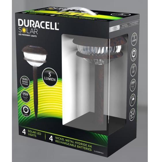 DURACELL - Borne solaire rustique lot de 4