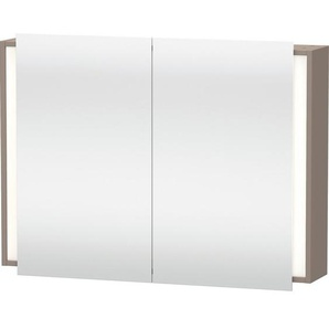 Duravit Ketho Armoire de toilette avec éclairage 100x75x18cm avec 2 portes basalte KT753204343