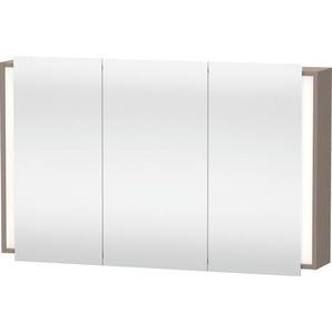 Duravit Ketho Armoire de toilette avec éclairage 120x75x18cm avec 3 portes basalte KT753304343