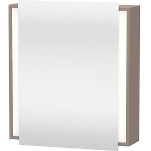 Duravit Ketho Armoire de toilette avec éclairage 65x75x18cm gauche avec 1 porte basalte KT7530L4343