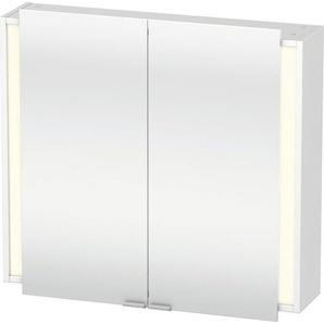 Duravit Ketho Armoire de toilette avec éclairage 80x75x18cm avec 2 portes blanc KT753101818