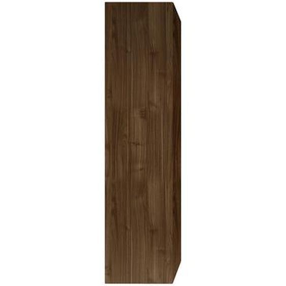 Élément mural TV vertical finition bois foncé ETERNEL