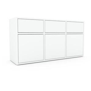 Enfilade - blanc, design, buffet, avec porte blanc et tiroir blanc - 118 x 61 x 35 cm