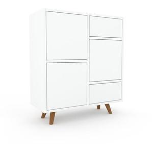 Enfilade - Blanc, design, buffet, avec porte Blanc et tiroir Blanc - 79 x 91 x 35 cm