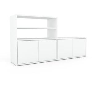 Enfilade - blanc, modèle de caractère, buffet, avec porte blanc - 152 x 80 x 35 cm, modulable