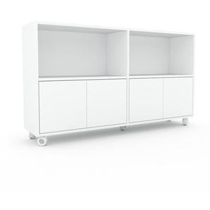 Enfilade - blanc, modèle de caractère, buffet, avec porte blanc - 152 x 87 x 35 cm, modulable