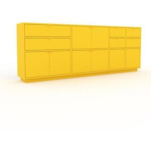 Enfilade - jaune, design, buffet, avec porte jaune et tiroir jaune - 229 x 85 x 35 cm