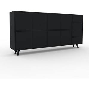 Enfilade - noir, design, buffet, avec porte noir et tiroir noir - 190 x 91 x 35 cm