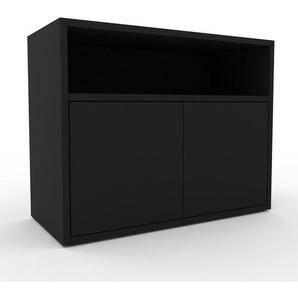 Enfilade - noir, modèle de caractère, buffet, avec porte noir - 77 x 61 x 35 cm, modulable