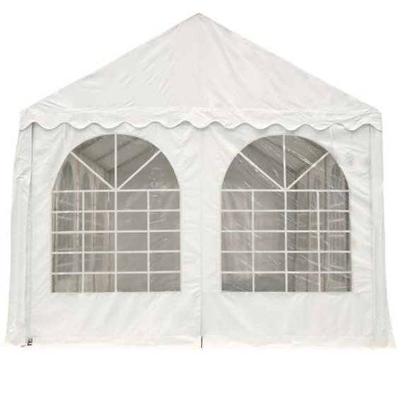 Entrée-pc XXL, L.4m/H.2,6m, PVC blanc, fenêtres