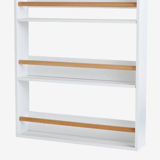 Etagère à livres 3 niveaux blanc/bois