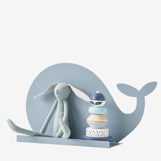 Etagère Baleine en métal bleu