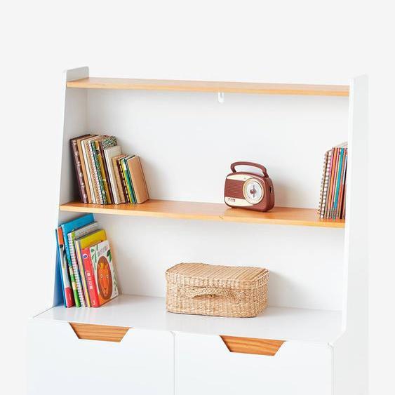 Etagère-bibliothèque LIGNE PIROUETTE blanc/bois