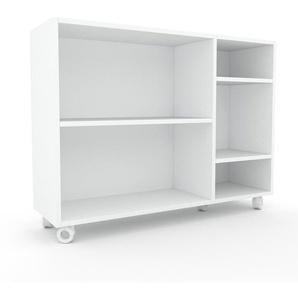 Étagère bureau - Blanc, design, cabinet de rangement de qualité, pour documents - 116 x 87 x 35 cm, personnalisable