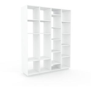 Étagère bureau - Blanc, design, cabinet de rangement de qualité, pour documents - 156 x 200 x 47 cm, personnalisable