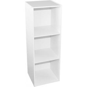 Étagère de rangement combinable 3 niches blanc