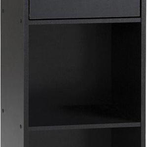 Etagère de rangement noir 1 tiroir 2 niches