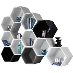 Etagère design laque brillante 11 polygones