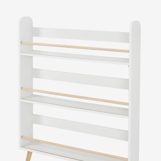 Etagère présentoir à livres LIGNE CONFETTI blanc/bois