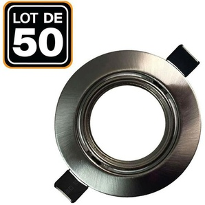 Lot de 50 Supports spot orientable Inox , Diametre 90mm trou de perçage 65mm - EUROPALAMP