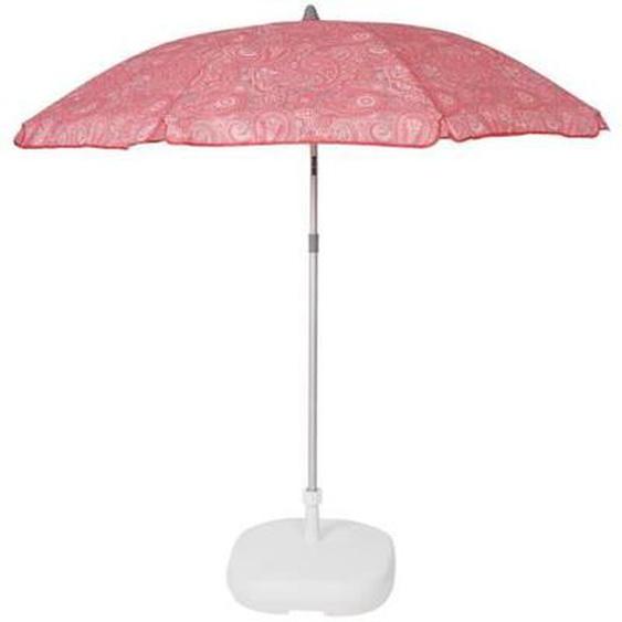 EZPELETA Parasol de plage Beach - Ø 180 cm - Cachemire rose Socle non inclus