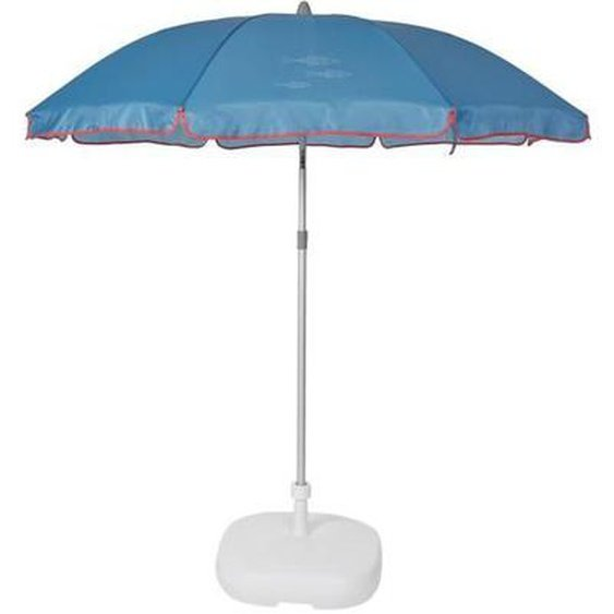 EZPELETA Parasol droit Beach - Ø 180 cm - Poisson bleu Socle non inclus