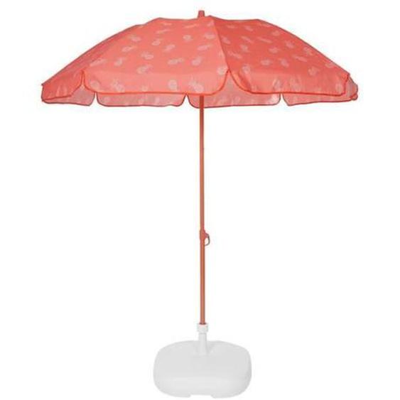 EZPELETA Parasol droit Fold - Ø 180 cm - Ananas orange Socle non inclus