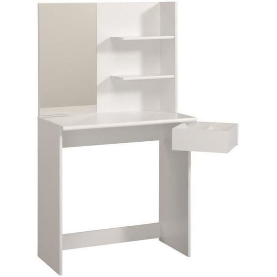 FASHION Coiffeuse style contemporain blanc mat - L 75 cm