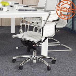 Fauteuil de bureau design MEGA en matière synthétique blanche