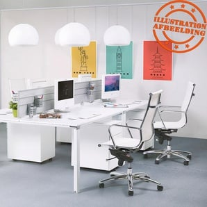 Fauteuil de bureau moderne AIR blanc