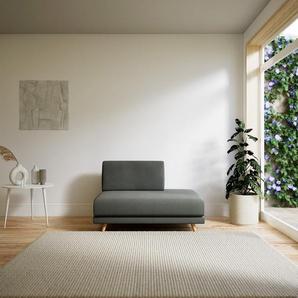 Fauteuil - Gris Gravier, modèle épuré, grand fauteuil en tissu avec pieds personnalisables - 120 x 75 x 98 cm, modulable